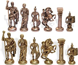 Indian Brass Chess Pieces Set
