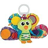 Lamaze Baby Spielzeug Jaques, der Pfau Clip & Go - hochwertiges Kleinkindspielzeug - Greifling Anhänger stärkt die Eltern-Kind-Beziehung - ab 0 Monate