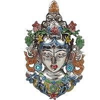 Kartique Tibetan Buddhist Deity | Wall Hanging Tara Mask | Face | Wall Decor (11 Inches Height) | Multicolored