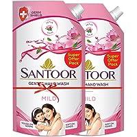 Santoor Mild Gentle Hand Wash, 750ml with Natural goodness of Lotus & Tulsi