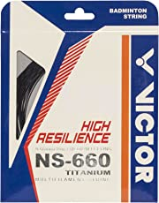 Victor NS-660Ti (0.6mm x 10mm) High Resilience Badminton String Available in 6 Different Color (Pack of 2)
