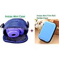 SUVE Instax Mini 9 case&Instax Mini Picture Format Film Case, Zipper Camera Case for Instax Mini 7s/8/25/50s (Blue), Instax Mini Film Picture Holder-Pack of 2