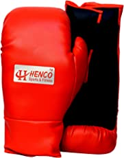 Henco PU Pro Boxing Gloves (Red, 1 Pair)