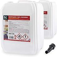 Höfer Chemie 20 L Bioethanol 100% Hochrein (2 x 10 L) für Ethanol Kamin, Ethanol Feuerstelle, Tischfeuer und Bioethanol Kami