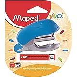 MAPED Vivo Mini Agrafeuse pour Agrafes 24/6 Ou 26/6 avec ôte-agrafes Intégré, Livré avec Une Boite de 400 Agrafes - Coloris B