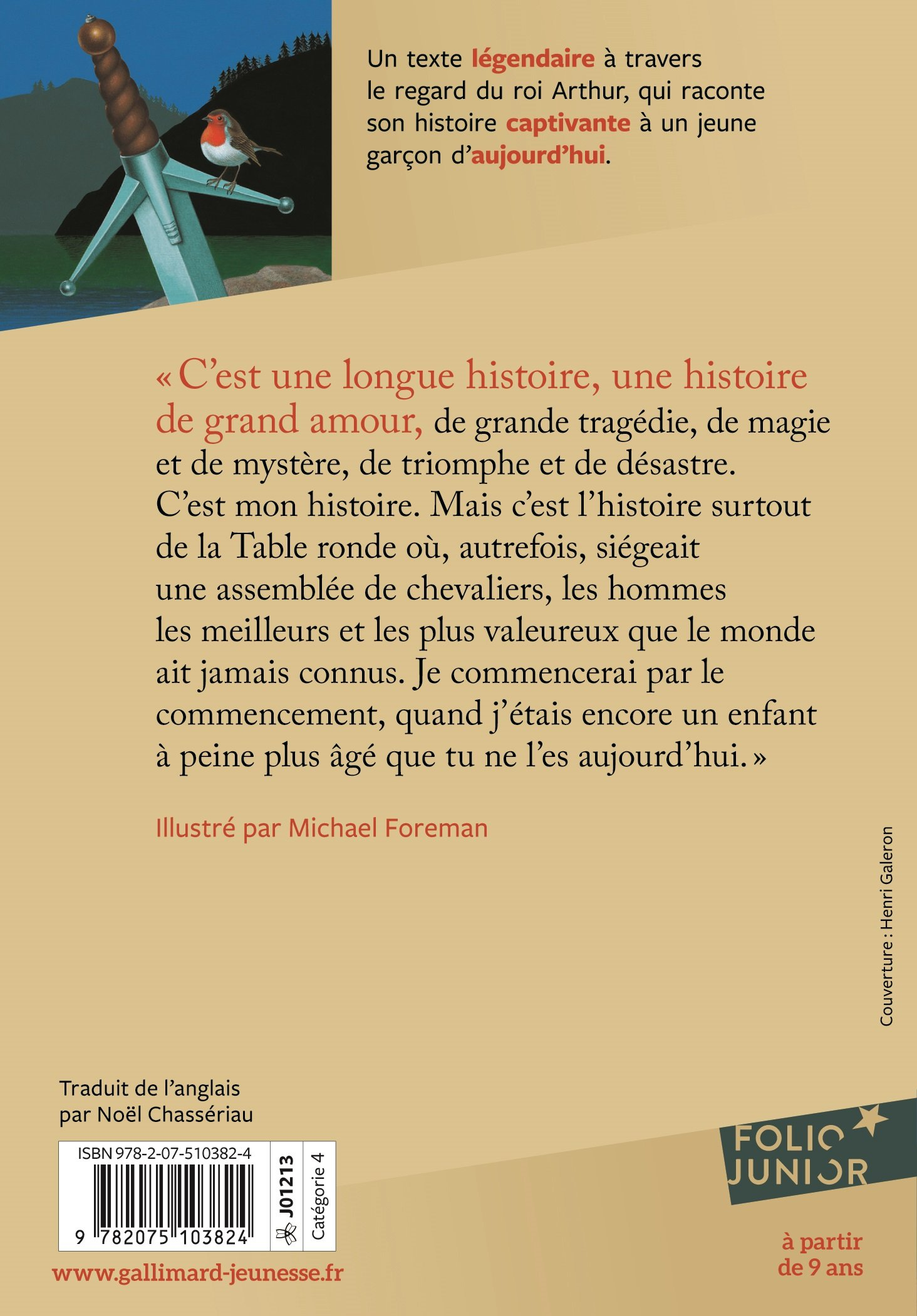Le roi Arthur - Folio Junior - A partir de 9 ans