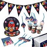 Accesorios de Decoración, Fiesta de Cumpleaños, Decoración de Cumpleaños para Niños, Game Theme Vajilla de Fiesta Temática, P