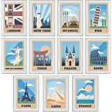 Growl Monster Cards 11 Travel Retro Abstract Art Posters (A4 Size)…
