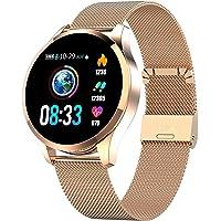 Smartwatch Sport Fitness Armband Rosegold Herrenuhr Aktivitätstracker Herzfrequenz Schlafüberwachung Schrittzähler…