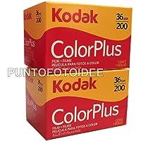 2 Rullini Kodak Color Plus 35mm 200/36 - Conf. da 2 pz. - Pellicola - Rullino - Fotografia