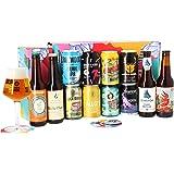 Assortiment de bières - Idée cadeau - Découverte de la bière - Dégustation (Coffret Dégustation 12 bières artisanales)