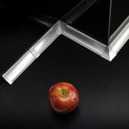 Interessant DQ-PP] 3m Winkelleisten Aluminum matt für Küchen 23mm x 23mm  GH79