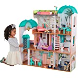 KidKraft Camila Casa de muñecas de madera con muebles y accesorios incluidos, apta para muñecas de 30 cm, rosa, 65986