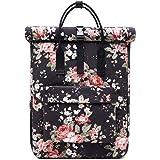 KALIDI Rucksack Damen Rucksack Herren Tagesrucksack mit Laptopfach, Unisex Modern Rolltop Rucksack Daypack, Wasserdichter Sch