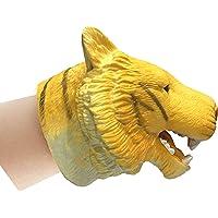 Popsugar Bengal Tiger Hand Puppet for Kids, Yellow
