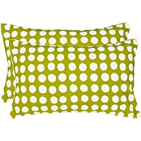 """Ahmedabad Cotton Luxurious 2 Piece Cotton Pillow Cover Set - 18""""x27"""", Green"""