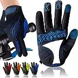 Cycling Gloves for Men Full Finger Gel Padded Touchscreen MTB Breathable, Mountain Bike Gloves Men Women Anti-Slip Comfortabl
