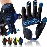 Cycling Gloves for Men Full Finger Gel Padded Touchscreen MTB Breathable, Mountain Bike Gloves Men Women Anti-Slip…