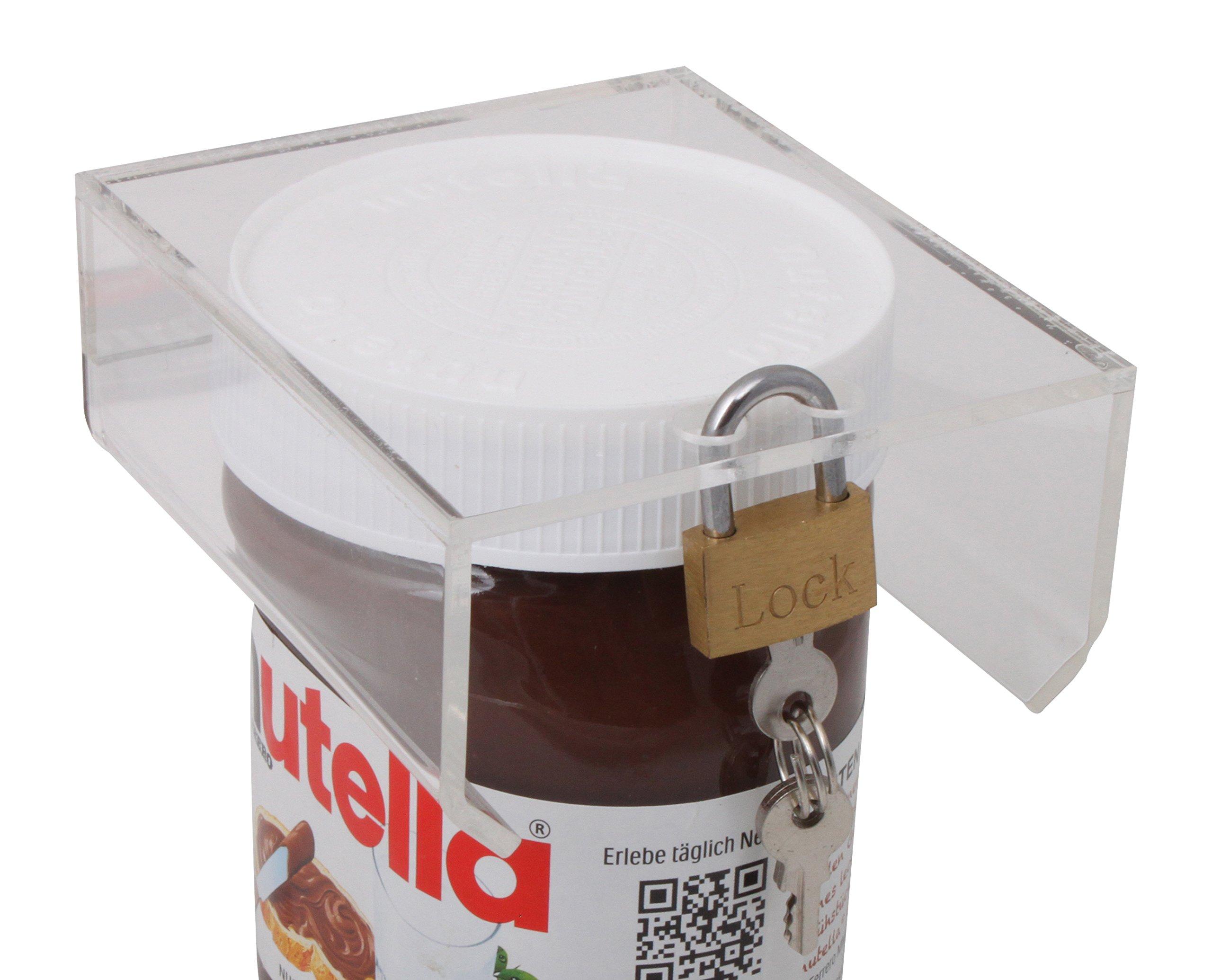 Solutions2GoCouvercle Malin en Verre Acrylique pour Pot de pâte à tartiner