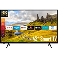 Telefunken XU43K521 43 Zoll Fernseher (Smart TV inkl. Prime Video / Netflix / YouTube, 4K UHD, HDR, HD+)