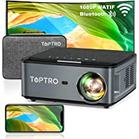 Videoprojecteur WiFi Bluetooth Full HD 1080P ,7500 Lumens TOPTRO Projecteur Portable Supporte 4K Retroprojecteur…