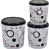 Regalo Transperent Containers 3 Piece Set (Black) (5,7,10 Liter)
