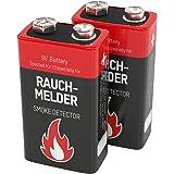2x ANSMANN Alkaline 9 V rookmelder-blokbatterij – E-blok alkaline (2 stuks)