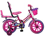 Ollmii™ Unisex Kids Cycle 14 inches (Pink & Purple) for 3 to 5 Years.