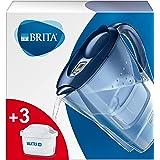 BRITA Marella waterfilterkan voor vermindering van chloor, kalk en onzuiverheden, Inclusief 3 x MAXTRA+ filterpatronen, 2,4L