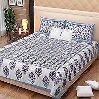 JAIPUR PRINTS Rajasthani Prints Bedsheet For Double Bed Cotton Exclusive Jaipur Prints Bedsheets