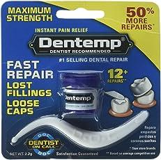 Dentemp Maximum Strength Dental Cement, 0.6 Ounce