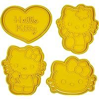 Set di 4 Tagliabiscotti formine con personaggi compatibili con Hello Kitty