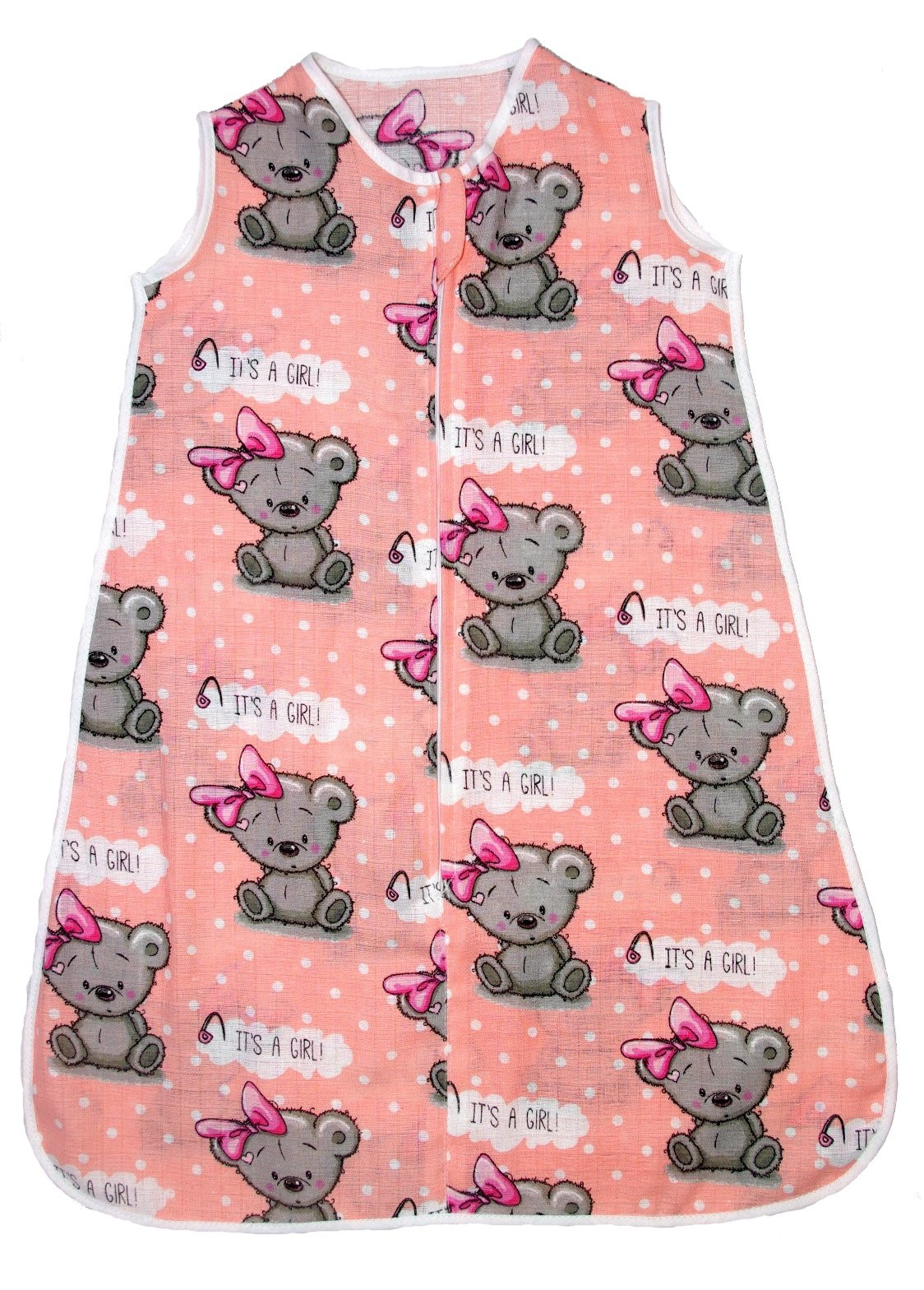Saco de dormir de muselina de verano para bebé, 0,5 tog rosa 1 Talla:0-6 months (0.5 tog)