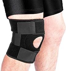 Tima Adjustable Sterling Knee Cap Knee Support Knee Support (Free Size, Black)