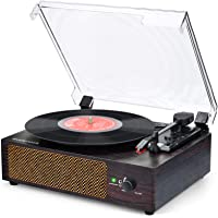 Plattenspieler mit Lautsprecher Plattenspieler Bluetooth Retro Schallplattenspieler mit Lautsprecher Drahtloser…
