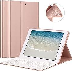 """Tastatur Hülle für neue iPad 2017 9.7 """"/ iPad Air / iPad Air 2 - GOOJODOQ [Upgrade] Weiche TPU Rückseite Standabdeckung [Betrachtungswinkel einstellbar] + Magnetisch abnehmbare Wireless Bluetooth V3.0 Keyboard"""