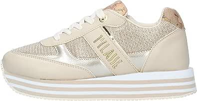 ALVIERO MARTINI Sneakers Ragazza 0892 0558 Y956 Latte-Platino-Geo Beige