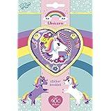 Unicorn Sticker Set - Crea magici mondi di unicorni con oltre 400 diversi motivi adesivi, per lo scrapbooking e l'artigianato