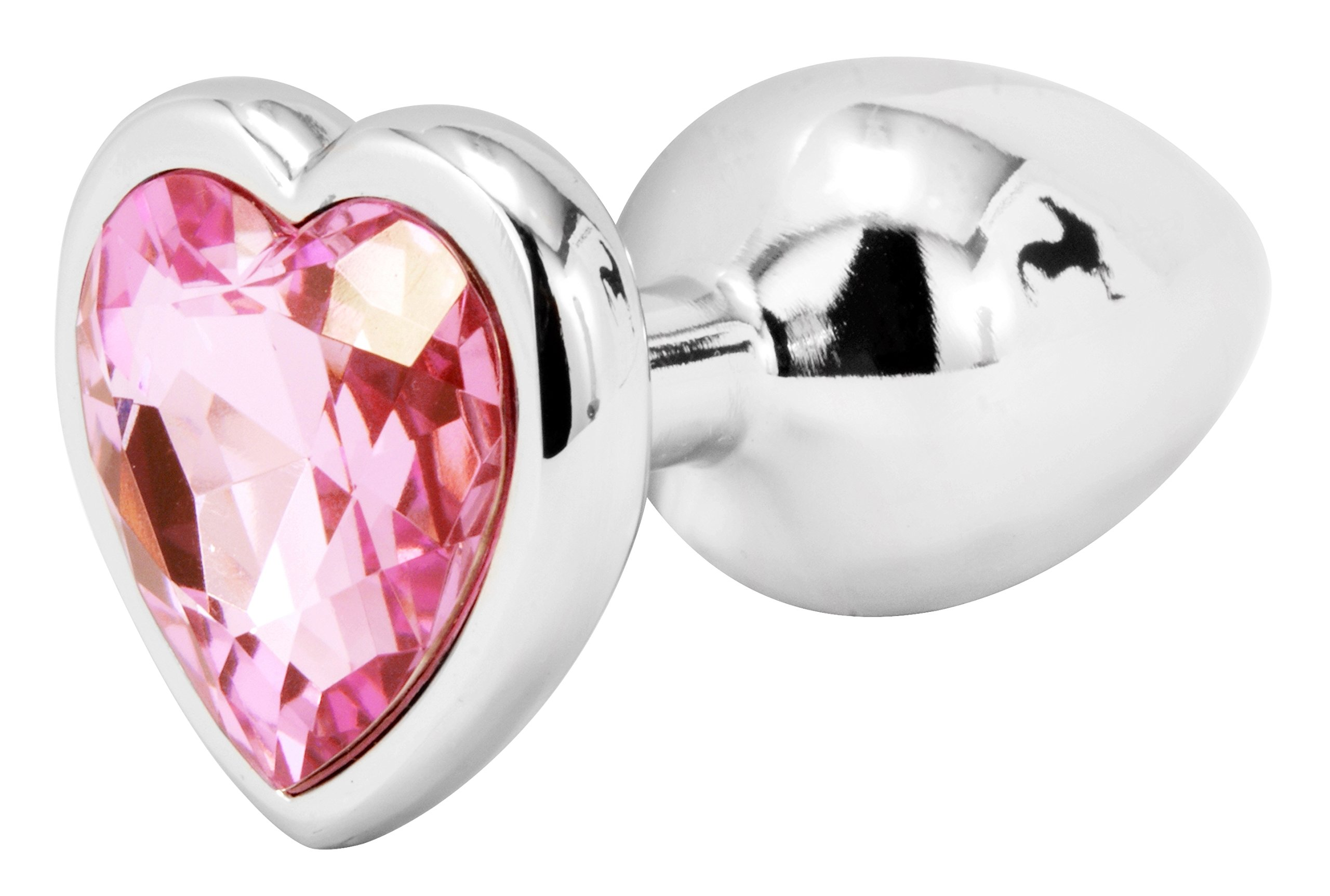 Handsome Cock Small Pink Heart Jewelled Butt Plug