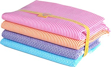 Sathiyas Quick Dry Cotton Bath Towels - Pack of 4