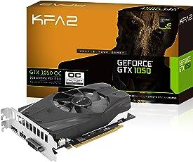 KFA2 GeForce GTX 1050 OC PCI-E Gaming-Grafikkarte, 2GB GDDR5, Schwarz