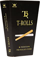 Turner Tools 109mm Pre Rolled Cones for Rolling, Smoking Paper, Blunt Paper (White)