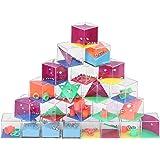Herefun 24 Pezzi Maze Ball Grande, Labirinto Tridimensionale Original di Giocattoli per Bambini, Palla 3D Labirinto Giocattol