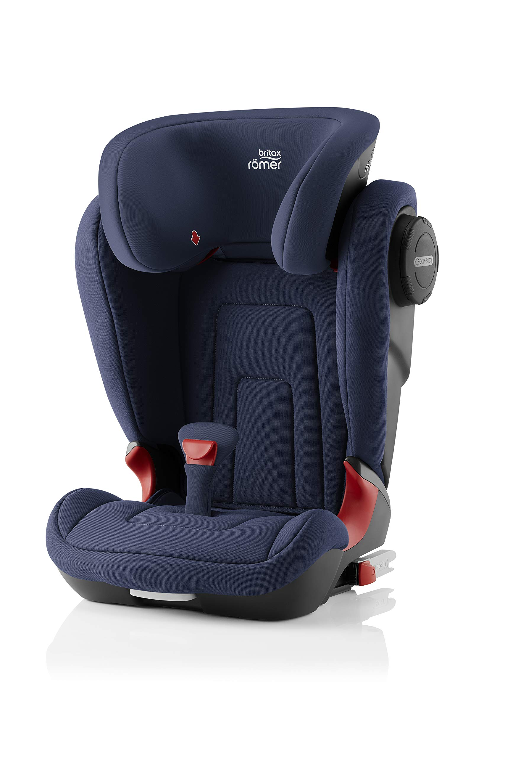 Britax Römer KIDFIX² S Group 2-3 (15-36kg) Car Seat - Moonlight Blue  Advanced side impact protection - sict offers superior protection to your child in the event of a side collision. reducing impact forces by minimising the distance between the car and the car seat. Secure guard - helps to protect your child's delicate abdominal area by adding an extra - a 4th - contact point to the 3-point seat belt. High back booster - protects your child in 3 ways: provides head to hip protection; belt guides provide correct positioning of the seat belt and the padded headrest provides safety and comfort. 1