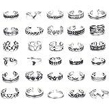 Milacolato 6-8Pcs Open Toe Ring per Donne Ragazze Toe Ring Set Regolabile Carino Anello a Fascia Set Gioielli Piede…