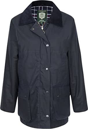 Portmann Womens Ladies Premium Quality Padded Wax Jacket Made in UK