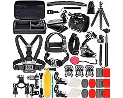 Neewer 50-en-1 Kit d'accessoires pour caméra d'action , compatible avec GoPro Hero9 / Hero8 / Hero7, GoPro Max, GoPro Fusion,