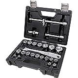 Beta 923E/C25 - Cassetta chiavi a bussola, set di 20 chiavi a bussola esagonali e 5 accessori, in cassetta di plastica. Kit c