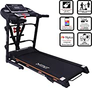 Fitkit FT100 Series (3.25 HP Peak) Motorized Treadmill with Free Dietitian,Personal Trainer, Doctor Consultation and Install