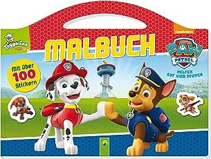 PAW Patrol Malbuch: Mit über 100 Stickern